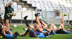 Cape Town-180619 Springbok doing stretches during their training session at Cape Town stadium,the team is preparing for the last test  against England at Newslands on Saturday..Photographer:Phando Jikelo/African News Agency/ANA