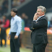 Turkey's coach Guus HIDDINK during their UEFA EURO 2012 Qualifying round Group A matchday 19 soccer match Turkey betwen Germany at TT Arena in Istanbul October 7, 2011. Photo by TURKPIX