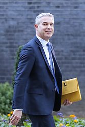 © Licensed to London News Pictures. 08/01/2019. London, UK. Stephen Barclay- Brexit Secretary departs from No 10 Downing Street after attending the weekly Cabinet Meeting. Photo credit: Dinendra Haria/LNP