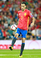 Spain's Sergio Busquets during FIFA World Cup 2018 Qualifying Round match. September 2,2017.(ALTERPHOTOS/Acero)