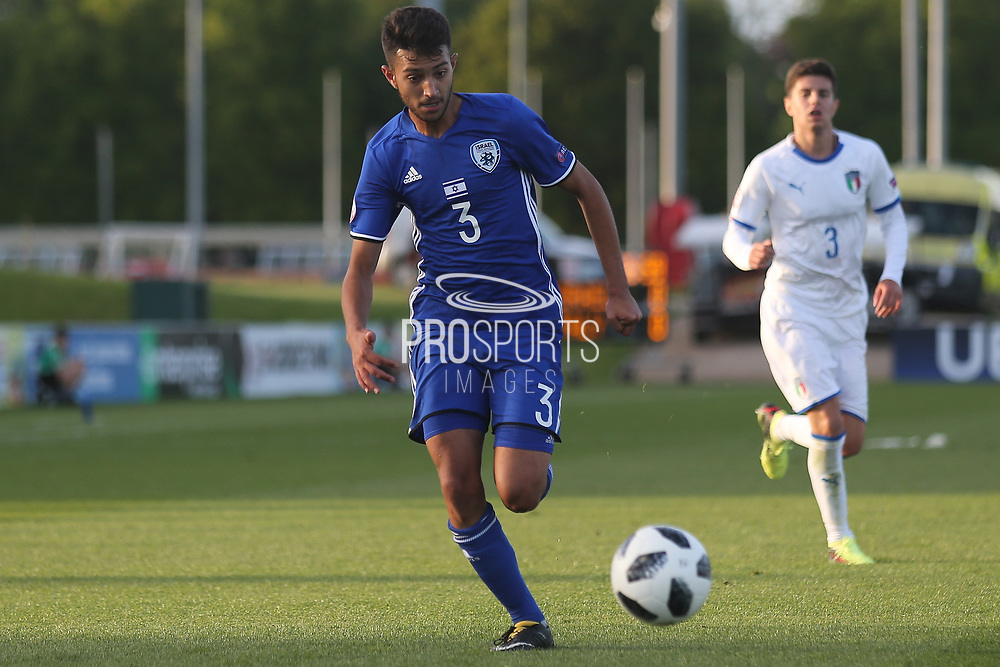 Hanan Hen Biton of Israel (3) runs with the ball during the UEFA European Under 17 Championship 2018 match between Israel and Italy at St George's Park National Football Centre, Burton-Upon-Trent, United Kingdom on 10 May 2018. Picture by Mick Haynes.