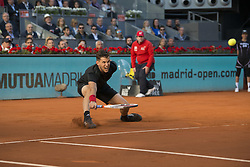 May 13, 2018 - Madrid, Madrid, Spain - DOMINIC THIEM in a match against ALEXANDER ZVEREV during the final of Mutua Madrid Open 2018 - ATP in Madrid. (Credit Image: © Patricia Rodrigues via ZUMA Wire)