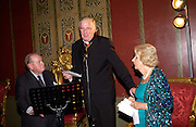 Gerald Noel, the Archbishop of Westmister Cardinal Cormac Murphy-O'Connor, and Anne Duchess of Norfolk, Book launch for ' Miles: a Portrait of the 17th Duke of Norfolk'. By Gerard Noel. the Throne Room, Archbishops House. Ambrosden Avenue. London SW1. ONE TIME USE ONLY - DO NOT ARCHIVE  © Copyright Photograph by Dafydd Jones 66 Stockwell Park Rd. London SW9 0DA Tel 020 7733 0108 www.dafjones.com