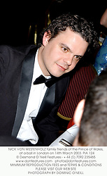 NICK VON WESTENHOLZ family friends of the Prince of Wales,  at a ball in London on 14th March 2003.	PIA 124