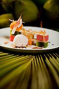 Tibau do Sul_RN, Brasil...Na foto, o prato Mosaico de Frutas da Estacao, feito no restaurante da pousada Toca da Coruja em Tibau do Sul, Rio Grande do Norte...The tipical food Mosaic of Seasonal Fruits in the restaurant in Pousada Toca da Coruja in Tibau do Sul, Rio Grande do Norte...Foto: LEO DRUMOND / NITRO