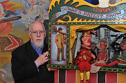 © Copyright licensed to London News Pictures. 13/10/2010. Sir Peter Blake at the Museum of Everything, Primrose Hill, London. Sir Peter Blake is loaning some of his collection to James Brett, owner of the Museum of Everything for an exhibition which opens 13th October 2010.