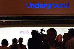 Waterloo, London, UK. 03/02/2014<br /> Commuters walk past the entrance to the Underground at Waterloo train station the evening before a Tube strike start on Tuesday 4th February 2014. <br /> Photo: Anna Branthwaite/LNP
