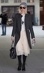 Fearne Cotton arriving at the Radio 1 studios. London, United Kingdom. Wednesday, 26th February 2014. Picture by Brian Mackness / i-Images
