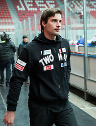 Blaz Gregorc during first meeting of Slovenian Ice Hockey National Team for IIHF World Championships Ostrava 2015, on April 5, 2015 in Arena Podmezakla, Jesenice, Slovenia. Photo by Vid Ponikvar / Sportida