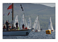Bell Lawrie Series Tarbert Loch Fyne - Yachting.The third day's inshore races, which transpired to be the last...The commitee boat Dorus Mhor on the Talisker Start Line..