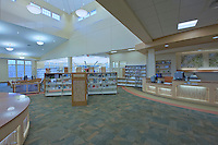 Commercial Interior Photographer Jeffrey Sauers of Commercial Photographics of Maryland Image of Harford County Public Library Whitford Branch interior for Lawrence Howard and Associates and Mullan Contracting Company