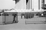 Guards marching through gates