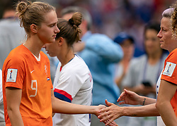 07-07-2019 FRA: Final USA - Netherlands, Lyon<br /> FIFA Women's World Cup France final match between United States of America and Netherlands at Parc Olympique Lyonnais. USA won 2-0 / Vivianne Miedema #9 of the Netherlands