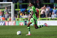 Forest Green Rovers Reece Brown(10) runs forward during the EFL Sky Bet League 2 match between Forest Green Rovers and Chesterfield at the New Lawn, Forest Green, United Kingdom on 21 April 2018. Picture by Shane Healey.