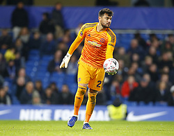 February 18, 2019 - London, United Kingdom - Manchester United's Sergio Romero.during FA Cup Fifth Round between Chelsea and Manchester United at Stanford Bridge stadium , London, England on 18 Feb 2019. (Credit Image: © Action Foto Sport/NurPhoto via ZUMA Press)