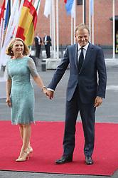 July 7, 2017 - Hamburg, Hamburg, Deutschland - Donald Tusk mit Gattin MaÅ'gorzata Tusk bei der Ankunft zu einem Konzert in der Elbphilharmonie im Rahmen des G20-Gipfel. Hamurg, 07.07.2017 (Credit Image: © Future-Image via ZUMA Press)
