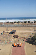 The DMZ Museum on 06th February 2016 in the Goseong County in South Korea. Established as a constant reminder of its painful past, the DMZ Museum embraces everything about the latest efforts made to transform the DMZ from a place of political scars to a symbol of peace and ecology. The museum features exhibition halls arranged under a number of different themes that underscore the historical significance of the DMZ and its value as a treasure trove of ecology for the future. The Path to Peace tour was organised by PyeongChang and The Ministry of Culture, Sports and Tourism.