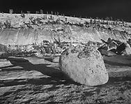 Boulder left by a glacier, is called a glacial erratic, Yosemite National Park, © David A. Ponton