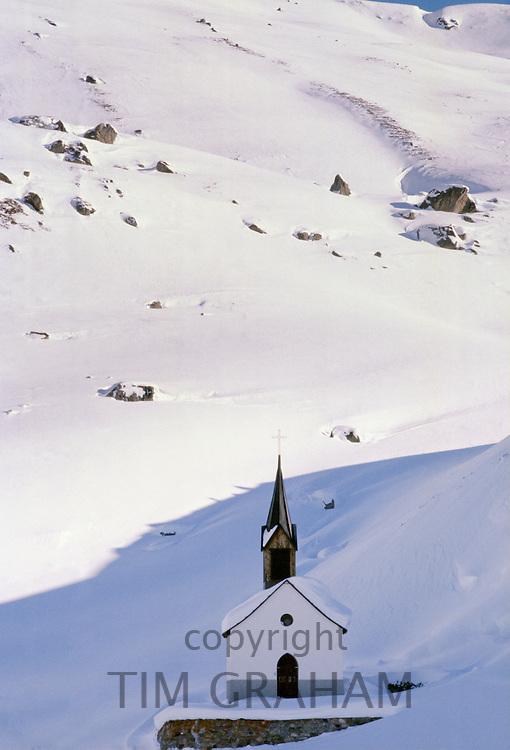 Church in Alpine ski resort of Klosters, Switzerland