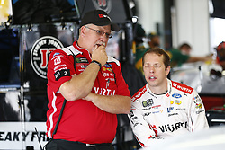 June 1, 2018 - Long Pond, Pennsylvania, United States of America - Brad Keselowski (2) hangs out in the garage during practice for the Pocono 400 at Pocono Raceway in Long Pond, Pennsylvania. (Credit Image: © Justin R. Noe Asp Inc/ASP via ZUMA Wire)