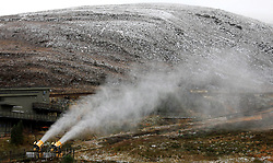 As the first cold snap sweeps down across Scotland the snow level has already reached the main car park at the Cairngorm ski centre. It is now also cold enough for the snow making machines to operate......... (c) Stephen Lawson   Edinburgh Elite media