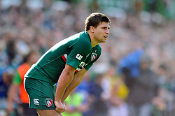 Leicester Tigers scrum half Ben Youngs looks on during a break in play - Photo mandatory by-line: Patrick Khachfe/JMP - Tel: Mobile: 07966 386802 - 21/09/2013 - SPORT - RUGBY UNION - Welford Road Stadium - Leicester Tigers v Newcastle Falcons - Aviva Premiership.