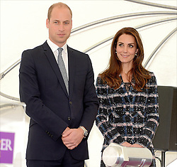 The Duke and Duchess of Cambridge during a tour of the University of Manchester to view the National Graphene Institute during a day of engagements in Manchester.