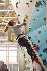 Medical students and volunteers students from the University of Edinburghendured a training session on a climbing wall ahead of their research trip to the Andes which will study the effects of altitude and low-oxygen environments on the human body. Centre for Sport and Excellence, University of Edinburgh24 April 2014 (c) GER HARLEY | StockPix.eu