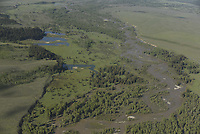 Aerial of the Snake River, Grand Teton National Park, Wyoming