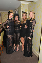 Left to right, MARISSA HERMER, SOPHIE GOODWIN, LUCIA RAMADAN and ALICE NAYLOR-LEYLAND at the Bumpkin Halloween Dinner hosted by Marissa Hermer held at Bumpkin, 119 Sydney Street, London on 23rd October 2014.