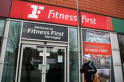 © Licensed to London News Pictures. 05/01/2021. London, UK. A jogger runs past a branch of Fitness First in Harringay, north London. <br /> Chancellor Rishi Sunak announced that businesses in the hospitality sector including restaurants and gyms are to receive a one-off grant worth up to £9,000 to help them through to the spring. <br /> Prime Minister Boris Johnson announced on Monday 4 January 2021 that England goes into third national lockdown until at least 22 February 2021, with households ordered to stay home and only go outside for the specific reasons. Photo credit: Dinendra Haria/LNP