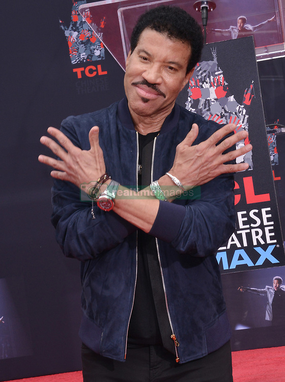 Lionel Richie Hand and Footprint Ceremony held at the TCL Chinese Theatre in Hollywood, CA  on Wednesday, March 7, 2018. (Photo By Sthanlee B. Mirador/Sipa USA)