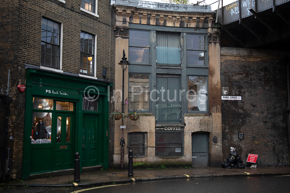 Famous house at Borough Market on 27th November 2019 in London, England, United Kingdom. This location was used as the hideout in Guy Ritchies gangster classic film Lock, Stock and Two Smoking Barrels at 15 Park Street, SE1.