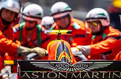 May 26, 2018 - Montecarlo, Monaco - Max Verstappen of Netherland and Red Bull Racing driver crash his car during the practice session on Formula 1 Grand Prix de Monaco on May 26, 2018 in Monte Carlo, Monaco. (Credit Image: © Robert Szaniszlo/NurPhoto via ZUMA Press)