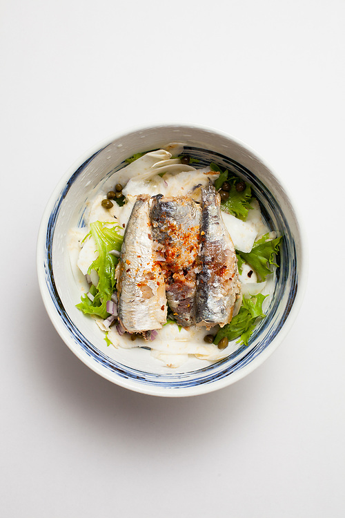 Sardine & Shaved Celeriac Salad from the fridge (m€)