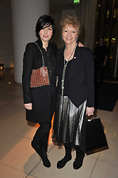Left to right, SHARLEEN SPITERI and HANNAH TILLER at a Burns Night dinner in aid of cancer charity CLIC Sargent held at St.Martin's Lane Hotel, London on 25th January 2011.