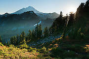 Mount Baker, located in Mount Baker Wilderness, Table Mountain hike, North Cascades mountains, Washington, USA.