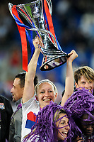 Pauline Bremer of Olympique Lyon celebrates with the Champions League trophy during the UEFA Women's Champions League Final between Lyon Women and Paris Saint Germain Women at the Cardiff City Stadium, Cardiff, Wales on 1 June 2017. Photo by Giuseppe Maffia.<br /> <br /> Giuseppe Maffia/UK Sports Pics Ltd/Alterphotos