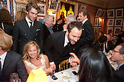 Jon Kortajarena; KATE MOSS; TOM FORD Graydon Carter hosts a diner for Tom Ford to celebrate the London premiere of ' A Single Man' Harry's Bar. South Audley St. London. 1 February 2010