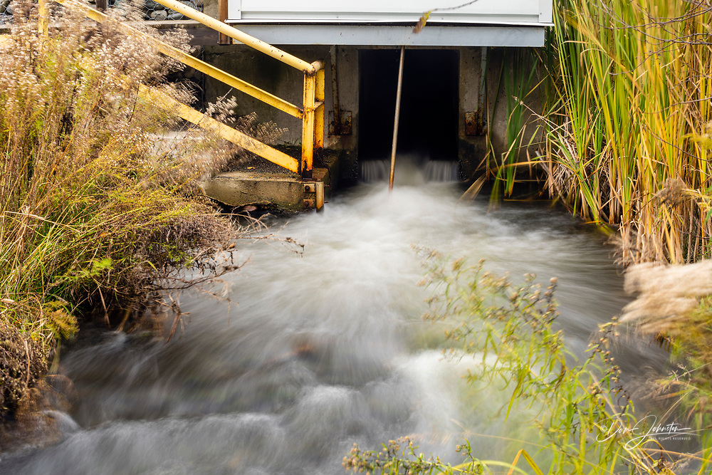 Fresh water outflow at Glencore, Greater Sudbury- Falconbridge, Ontario, Canada