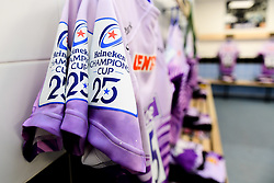 A general view of the changing room prior to kick off  - Mandatory by-line: Ryan Hiscott/JMP - 18/01/2020 - RUGBY - Sandy Park - Exeter, England - Exeter Chiefs v La Rochelle - Heineken Champions Cup