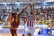 DESCRIZIONE : 5° International Tournament City of Cagliari Olympiacos Piraeus Pireo - Galatasaray<br /> GIOCATORE : Ioannis Athineou Errick McCollum<br /> CATEGORIA : Tiro Penetrazione Stoppata<br /> SQUADRA : Olympiacos Piraeus Pireo<br /> EVENTO : 5° International Tournament City of Cagliari<br /> GARA : Olympiacos Piraeus Pireo - Galatasaray Torneo Città di Cagliari<br /> DATA : 18/09/2015<br /> SPORT : Pallacanestro <br /> AUTORE : Agenzia Ciamillo-Castoria/L.Canu