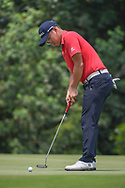 Dongmin KIM (KOR) watches his putt on 4 during Rd 2 of the Asia-Pacific Amateur Championship, Sentosa Golf Club, Singapore. 10/5/2018.<br /> Picture: Golffile | Ken Murray<br /> <br /> <br /> All photo usage must carry mandatory copyright credit (© Golffile | Ken Murray)