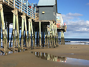 A spring day at Old Orchard Beach Pier, Maine