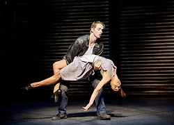 The Car Man <br /> by Matthew Bourne <br /> at Sadler's Wells, London, Great Britain <br /> press photocall<br /> 16th July 2015 <br /> <br /> Act 2 Duet with Rita & Angelo <br /> <br /> Kate Lyons as Rita <br /> Liam Mower as Angelo <br /> <br /> <br /> <br /> <br /> Photograph by Elliott Franks <br /> Image licensed to Elliott Franks Photography Services