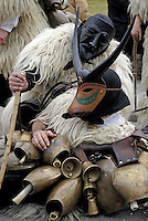 Italie. Sardaigne. Province de Nuoro. Village de Ottana. Carnaval. mardi gras. Masque traditionel des Boes et Merdules. // Italy. Sardinia. Nuoro province. Ottana village. Canival with Boes and Merdules mask.