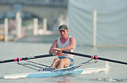 Henley. United Kingdom. AUS M1X, Peter ANTONIE, competing in the Diamond Sculls Challenge and the FISA World Cup event. Men and Women's single Sculls at the 1995 Henley Royal Regatta. Henley Reach, England.<br /> <br /> {Mandatory Credit: Peter SPURRIER/Intersport Images]