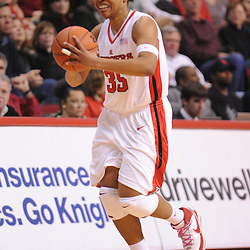 Feb 24, 2009; Piscataway, NJ, USA; Rutgers guard Brittany Ray (35) passes up court to Rutgers guard Epiphanny Prince (10) during the second half of Rutgers' 71-52 victory over Cincinnati at the Louis Brown Athletic Center.