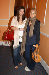 Left to right, DAVINA CATT and KALITA AL-SWAIDI at a launch preview sale of Nathalie Hambro's new line of fashion accessories 'Full of Chic' held at her home 63 Warwick Square, London SW1 on 5th May 2005.<br /><br />NON EXCLUSIVE - WORLD RIGHTS