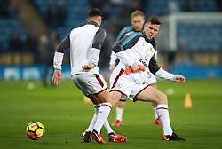 """Burnley's Kevin Long warming up during the Premier League match at the King Power Stadium, Leicester. PRESS ASSOCIATION Photo Picture date: Saturday December 2, 2017. See PA story SOCCER Leicester. Photo credit should read: Mike Egerton/PA Wire. RESTRICTIONS: EDITORIAL USE ONLY No use with unauthorised audio, video, data, fixture lists, club/league logos or """"live"""" services. Online in-match use limited to 75 images, no video emulation. No use in betting, games or single club/league/player publications."""